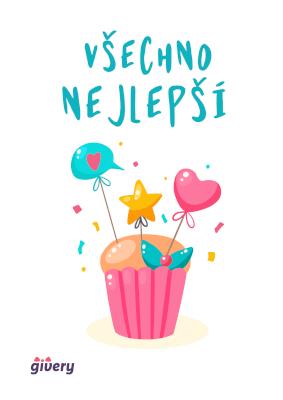 Všechno nejlepší - cupcake