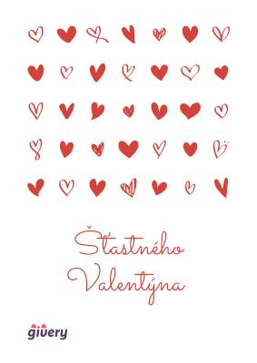 Šťastného Valentýna - srdíčka