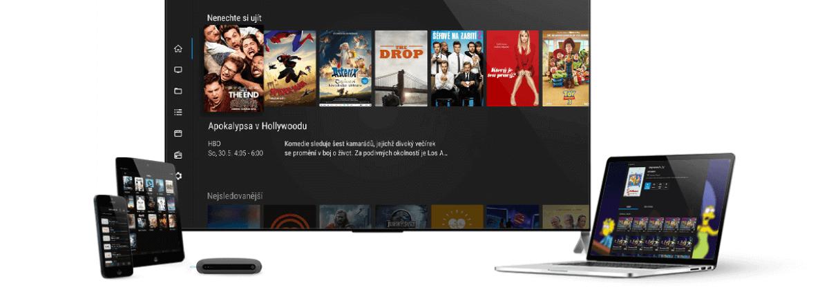 Díky SledovaniTV můžete televizi sledovat i na mobilních zařízeních a na počítači.